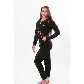 Patricia Trening negru-pinkneon