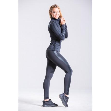 Reka Leggings negru piele