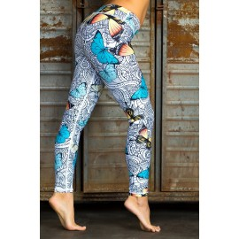 Nicci Butterfly Leggings compresiv