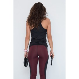 Push Up leggings Compresiv bordo/negru