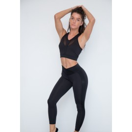 Leggings Compresiv negru / shine