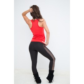 Gold Leggings negru