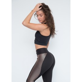 Gold Leggings Push Up negru