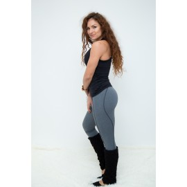Basic Warm Push Up leggings gri