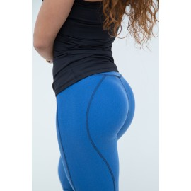 Basic Warm Push Up leggings albastru