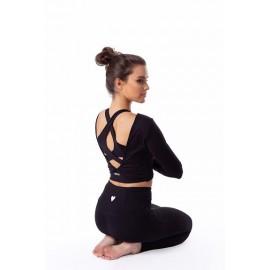 Yoga Secret Maiou scurt Capuccino soft micro cu bustiera si burete detasabil