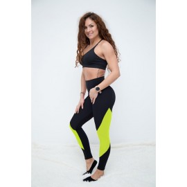Push Up 2 leggings negru / galbenneon
