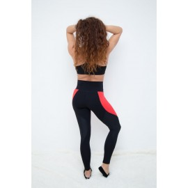 Push Up 2 leggings negru / flowers