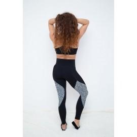 Push Up 2 leggings negru / rosu 2