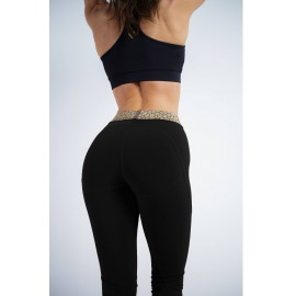 Gold Apple Leggings negru -...